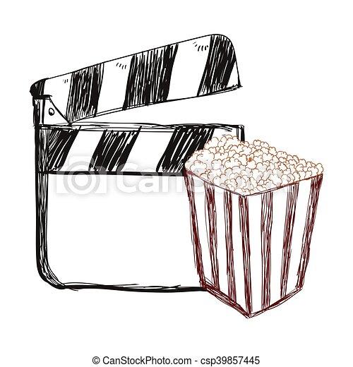 film, bardeau, conception, cinéma - csp39857445