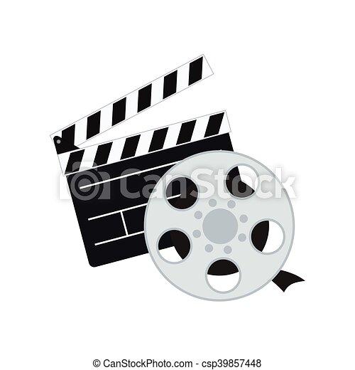 film, bardeau, conception, cinéma - csp39857448