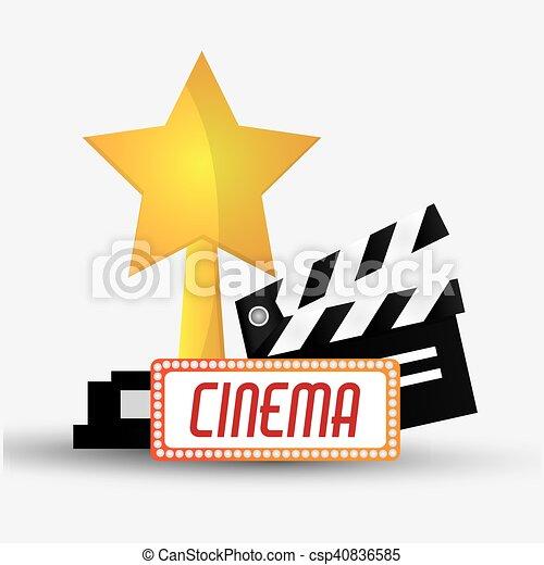film, bardeau, conception, cinéma - csp40836585