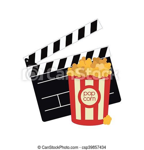 film, bardeau, conception, cinéma - csp39857434