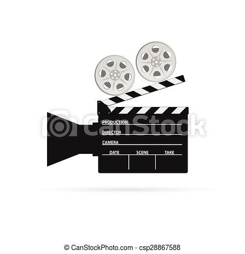 Film camera roll black vector film camera roll black art for Camera film logo
