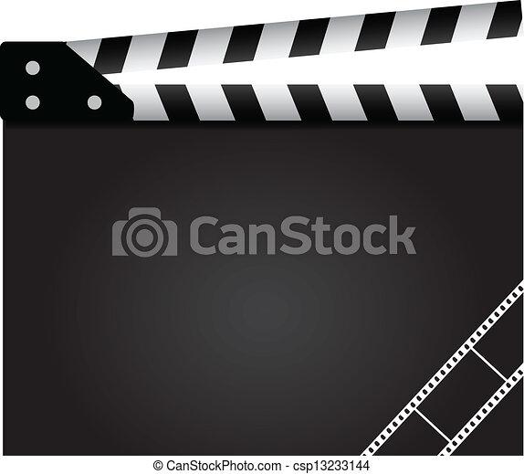 Film clapper - csp13233144