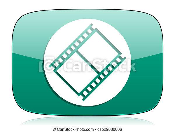 Film Green Icon Movie Sign Cinema Symbol
