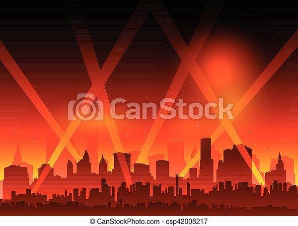 film, hollywood, czerwony dywan - csp42008217