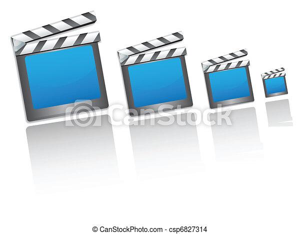 film, icônes, bardeau, cinéma - csp6827314