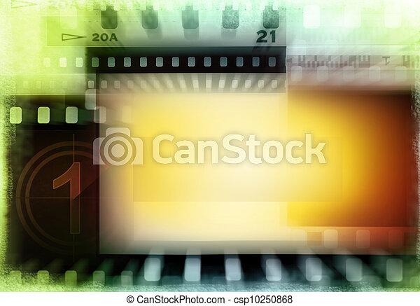 Film negatives background - csp10250868