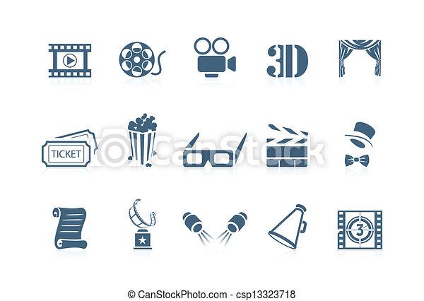 film, piccolo, cinéma, -, icônes - csp13323718