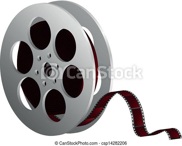 film reel against white - csp14282206