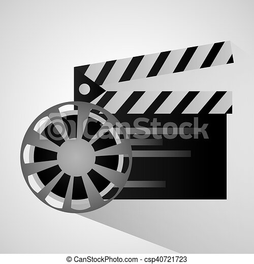 film reel and movie design film reel and clapboard icon cinema
