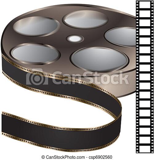 film reel - vector - csp6902560