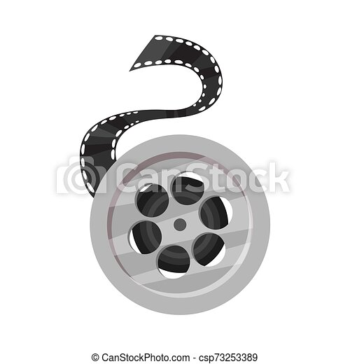 Film roll. Vector illustration on a white background. - csp73253389