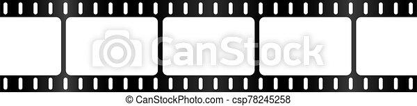 Film Strip Background Border - csp78245258