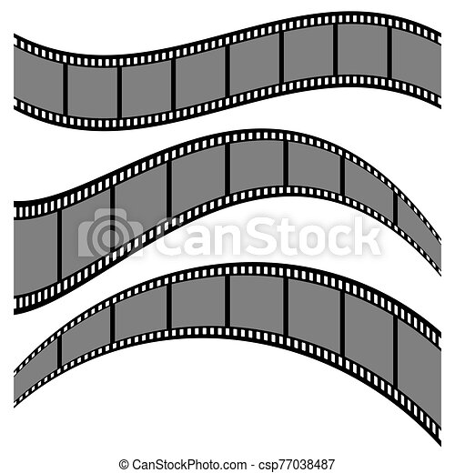 Film strip collection vector illustration isolated on white background - csp77038487