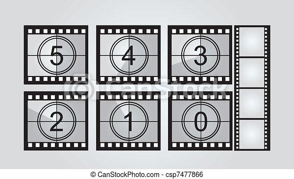film strip countdown  - csp7477866
