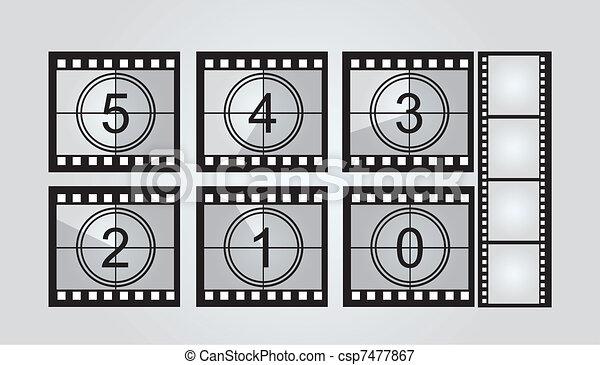 film strip countdown  - csp7477867