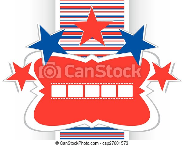 film strip icon glossy button vector - csp27601573
