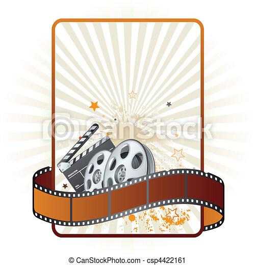 film strip, movie theme element - csp4422161