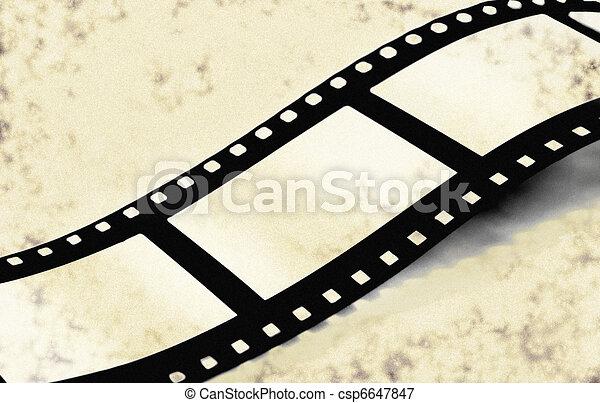 Film strip on grunge - csp6647847