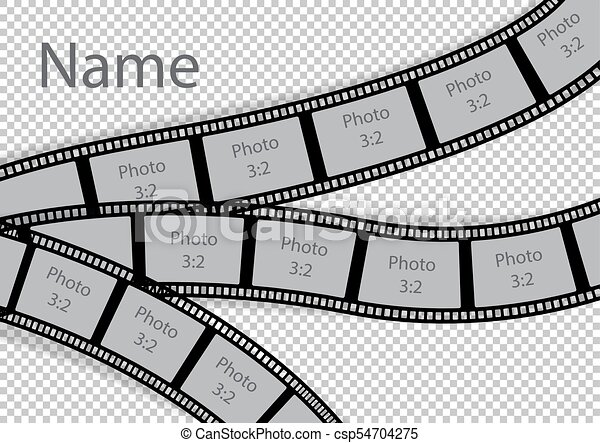 Film strip photo frame effect template collage. vector illustration.