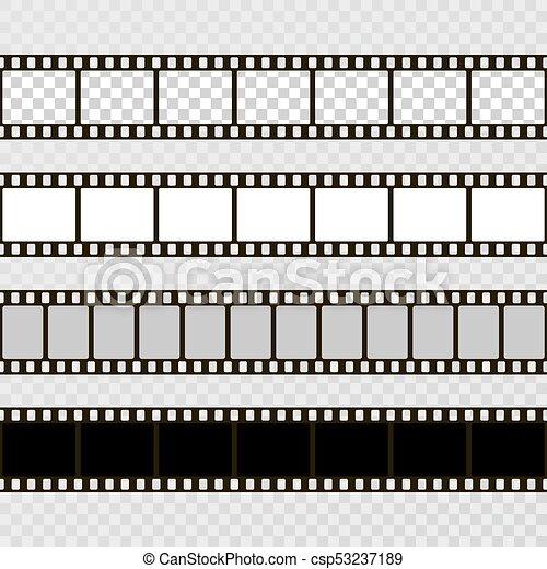 Film strip set. collection of film for the camera. cinema frame ...