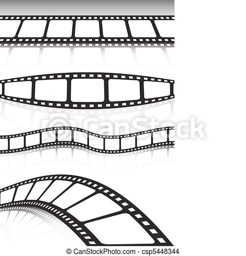 Film strip various background colle - csp5448344