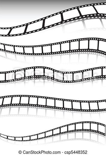 Film strip vector background collec - csp5448352