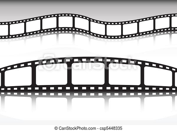 Film strip vector background illust - csp5448335