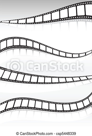 Film strip vector background illust - csp5448339