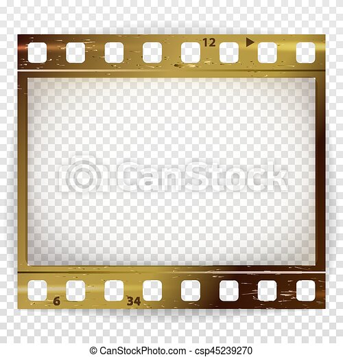 Film strip vector. cinema of photo frame strip blank scratched ...