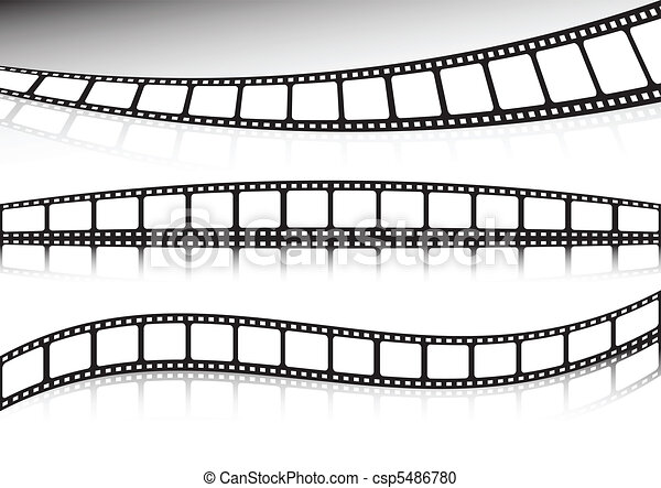 Film strip vector collection of bac - csp5486780