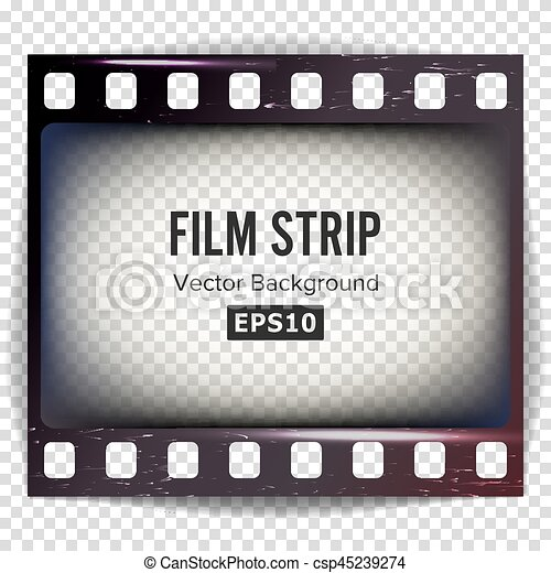 Film strip vector. frame strip blank scratched isolated on ...
