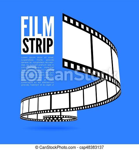 film strip vector illustration on blue background vectors search rh canstockphoto com film strip vector art film strip vector background