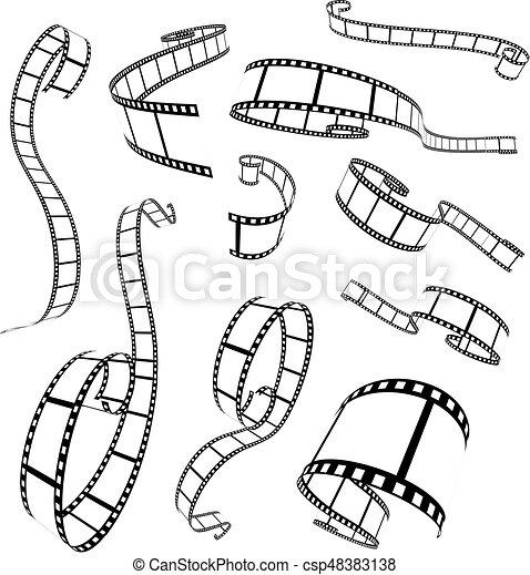 Film strip vector illustration - csp48383138
