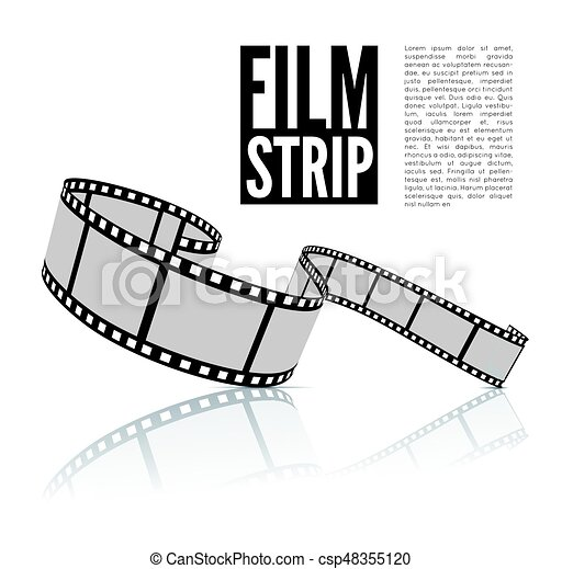 Film strip vector illustration - csp48355120
