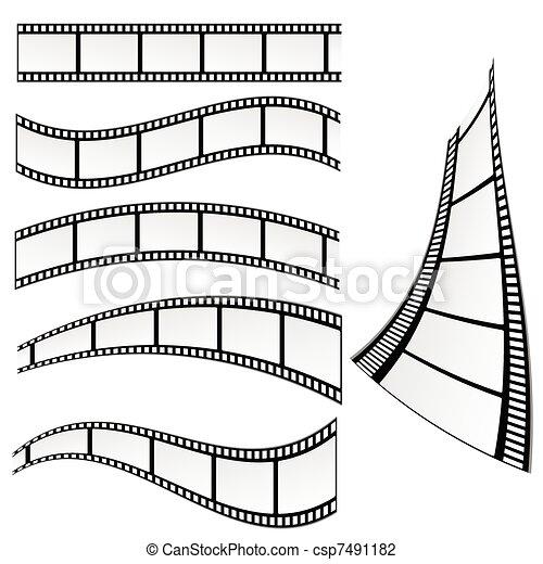 film strip vector illustration - csp7491182
