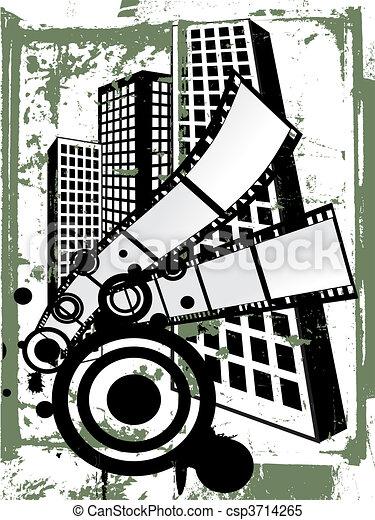 Film stripes on vintage background illustration of film film stripes on vintage background vector voltagebd Image collections