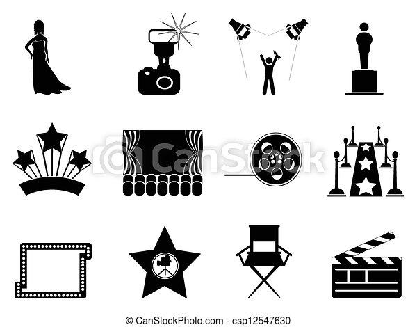 film, symbole, oscar, icônes - csp12547630