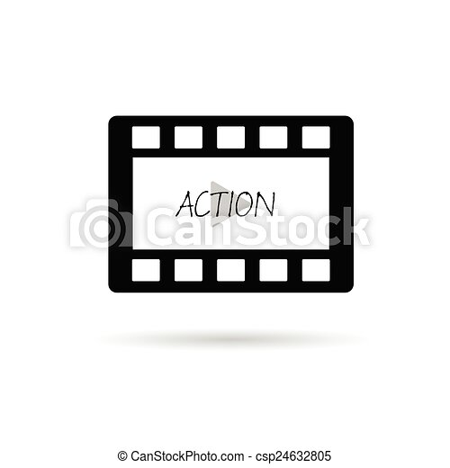 film tape action vector illustration - csp24632805