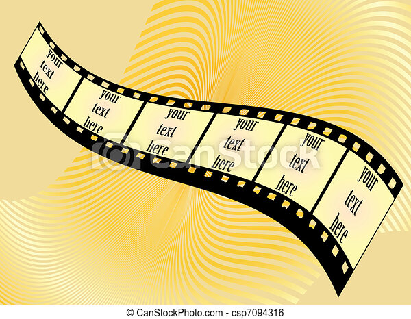 Film tape background film frames on a yellow background clip art film tape background vector voltagebd Image collections