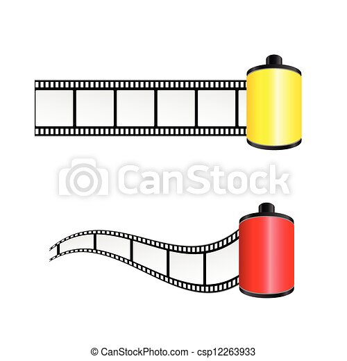 film tape color vector illustration - csp12263933