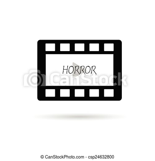 film tape horror vector illustration - csp24632800