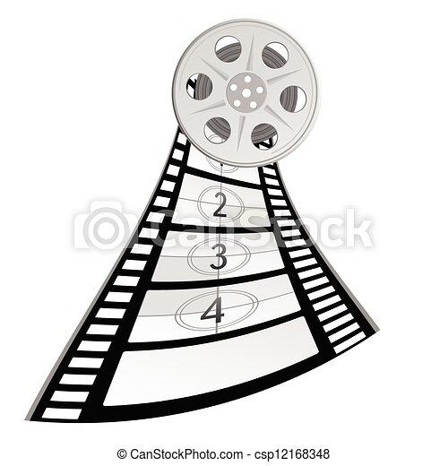 film tape old vector illustration - csp12168348