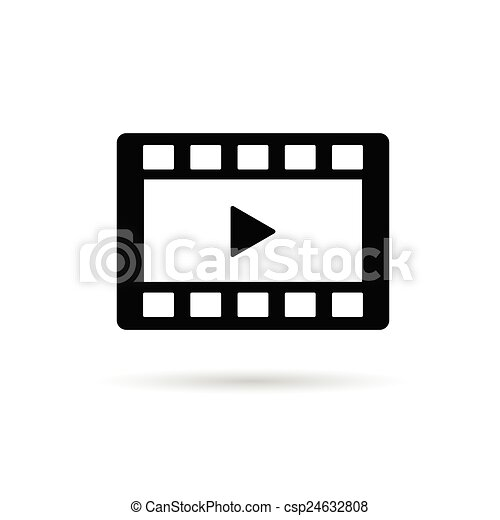 film tape play vector illustration - csp24632808
