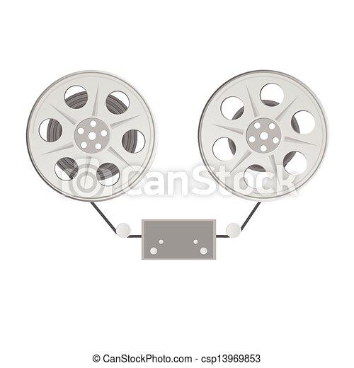 film tape vector illustration - csp13969853