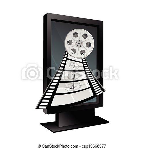 film tape vector illustration - csp13668377