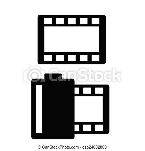 film tape vector illustration - csp24632803