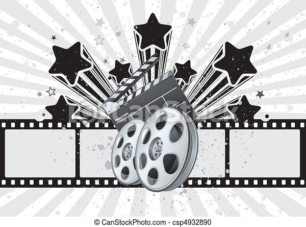 film, thema, achtergrond - csp4932890