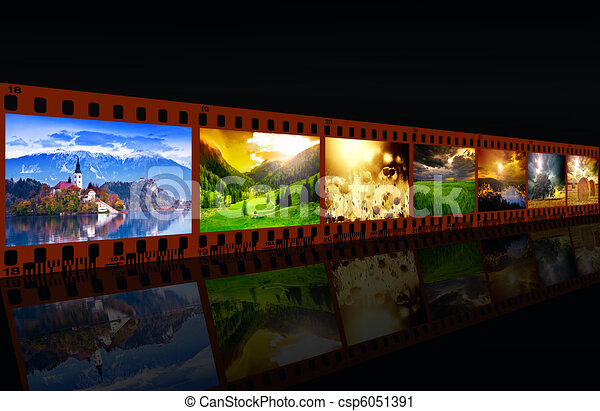 Film with images - csp6051391
