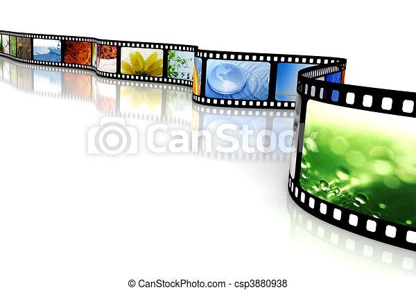 Film with images - csp3880938