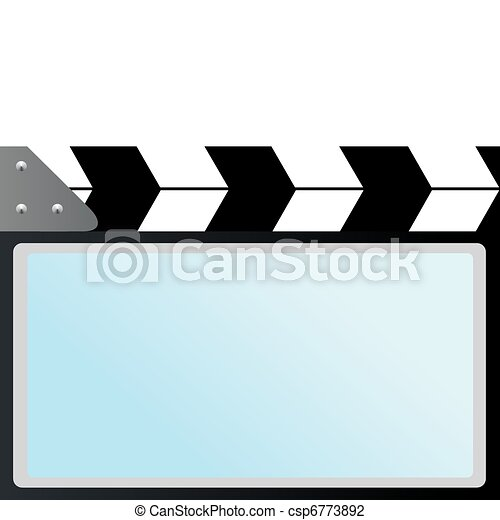 film with slapstick cinema screen movie cracker used in vector rh canstockphoto ca  outdoor movie screen clipart